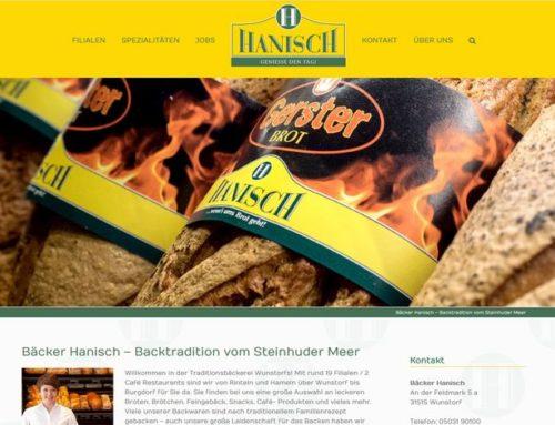 Bäcker Hanisch mit neuer Website und verbesserter Filialübersicht