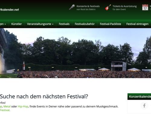 konzertkalender.net: Auf der Suche nach dem nächsten Festival?
