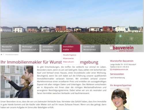wbauverein.de Relaunch in Kooperation mit Kontor3