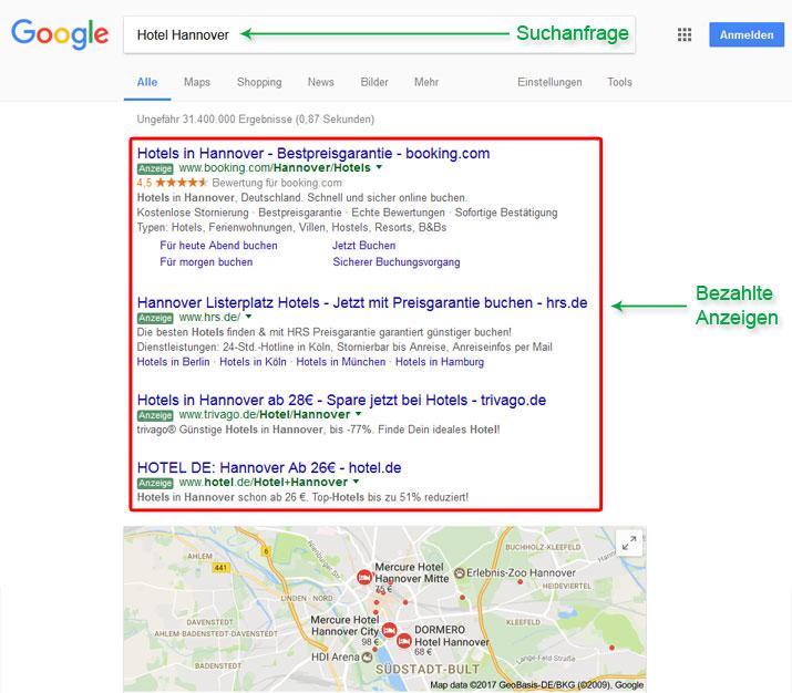 Google Anzeigen - Suchmaschinenwerbung